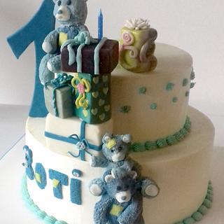 Teddy bear first cake - Cake by Agnes Havan-tortadecor.hu