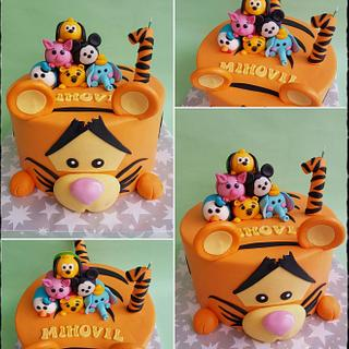 Tiger and friends cake