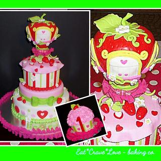 Very Berry cake for Strawberry Shortcake 1st birthday party