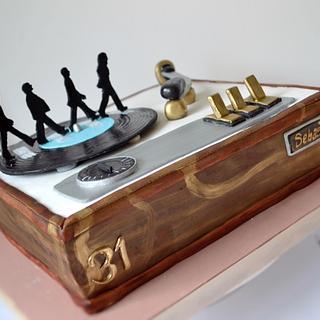 Beatles vintage turntable