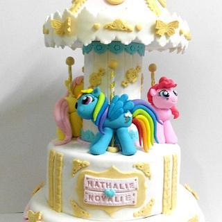 Little Poney Carousel cake