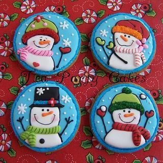 Playful Snowmen