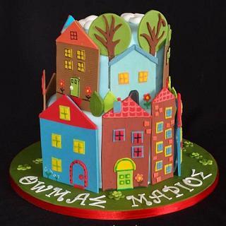 Houses cake