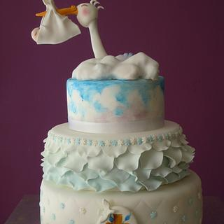 Flying stork <3 - Cake by Caterina Fabrizi