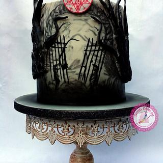 Enter at Your Own Risk - Penny Dreadful Cake Collaboration