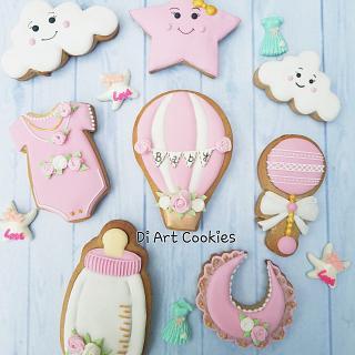 Baby shower cookies  - Cake by Di Art Cookies