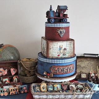 Vintage locomotive cake