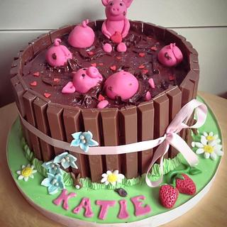 Piggy Love in the Mud Cake!!!