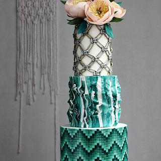 BOHO GLAM WEDDING CAKE