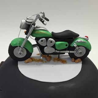 Motor Cycle Birthday Cake