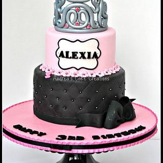 Pretty Pink Princess Cake