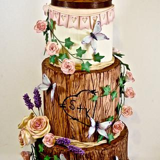 One more Owl wedding cake :) - Cake by Ellie @ Ellie's Elegant Cakery