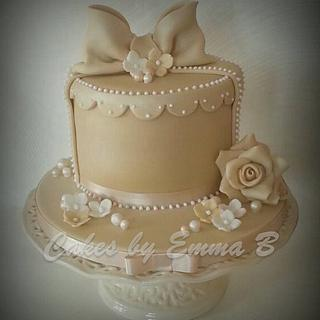 Vintage Inspired Birthday Cake - Cake by CakesByEmmaB
