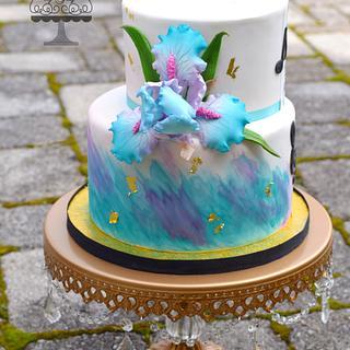 Watercolored Iris