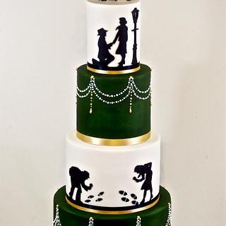 Romantic Detective Wedding Cake