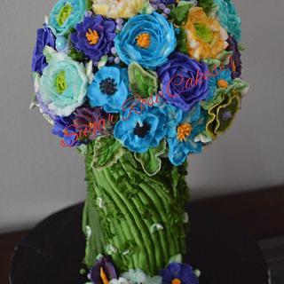 Flower bouquet . - Cake by Inoka (Sugar Rose Cakes)