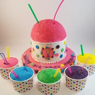 1st birthday Snowball smash cake & cupcakes