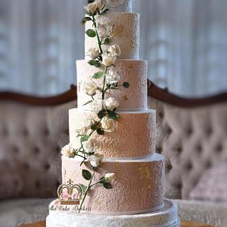 Climbing  Roses Wedding Cake