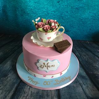 Afternoon tea and a Bourbon biscuit  - Cake by Maria-Louise Cakes