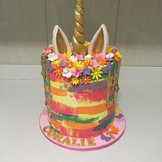 Unicorn cake with a twist