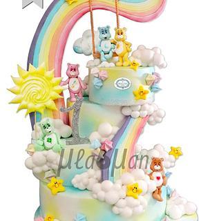 Care Bears Rainbow Cake / Грижовните мечета