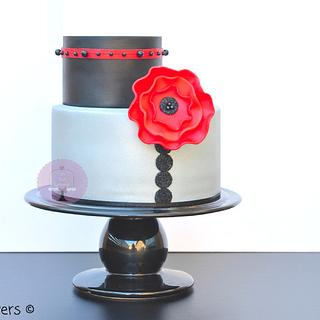 Silver&Black Cake - Cake by Undolcunivers