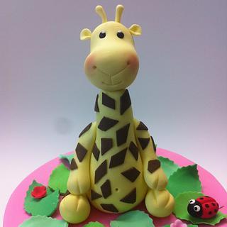 Happy Giraffe Birthday Cake - Cake by CakesAnnietime
