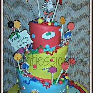 Dr. Seuss cake & smash cake