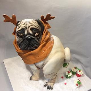 "CPC Christmas collaboration "" The Christmas pug popping muffins """