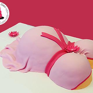 Baby Shower Baby Bump Cake