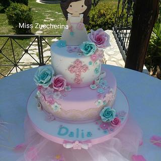 Lovely girl First Communion cake