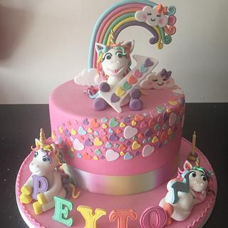 Unicorn 1st birthday cake  - Cake by Donnajanecakes