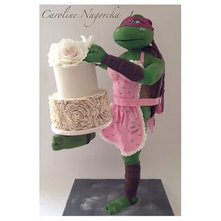 """Rosie"" the cake decorating ninja turtle"