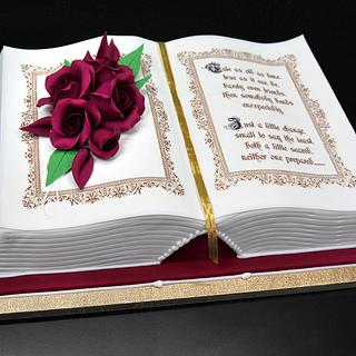 3D Book Cake - Cake by Serdar Yener | Yeners Way - Cake Art Tutorials