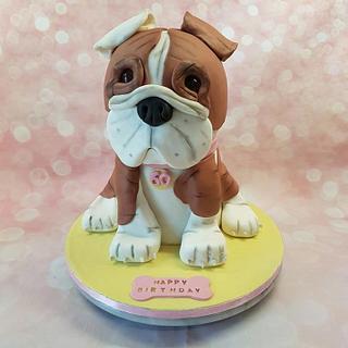 3D Bulldog cake