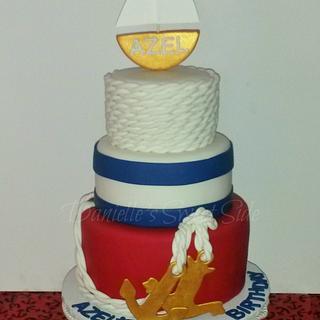 Nautical Themed 1St Birthday Cake