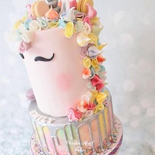 Pink Unicorn Cake - Cake by Wooden Heart Cakes