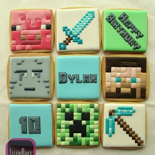 Minecraft cookies - Cake by Gail (LizzieMay's)