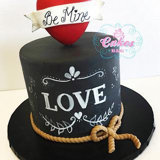 Chalkboard Themed fondant cake