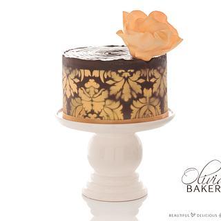 Golden Twist - Cake by Olivia's Bakery
