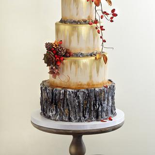 Rustic Autumn Wedding Cake - Cake by Nasa Mala Zavrzlama