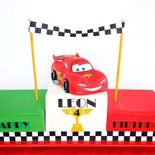 Lightning McQueen On Italian Podium