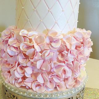 Vera Wang Bridal Gown Inspired Wedding Cake - Cake by Angel Cakes