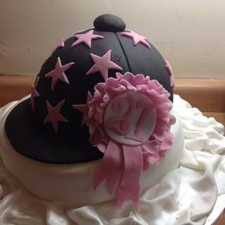 Riding hat - Cake by chaddy