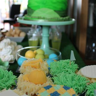 Golf themed dessert table for my Dad