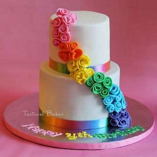 rainbow flower cake - Cake by CeCe