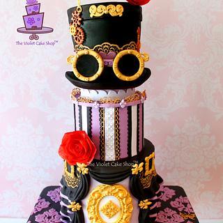 My Reprised STEAMPUNK HAT CAKE