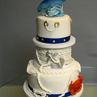 Nautical cake for crab feed - Cake by Cakeicer (Shirley)