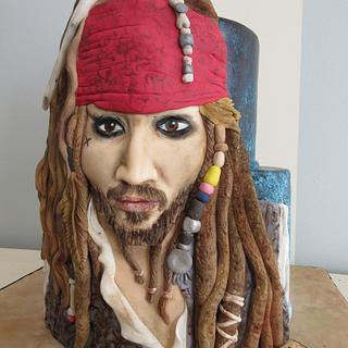 Jack Sparrow cake - Cake by SweetMamaMilano