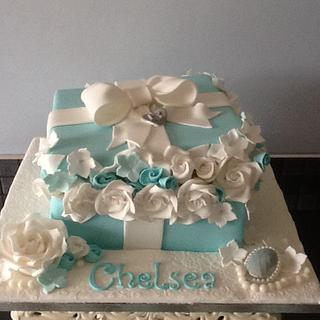 Rose gift box with cupcakes - Cake by Tickety Boo Cakes